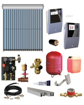 TWL Solar Röhrenkollektoren-Set EtaSunPro® VRK20 | 3,10 - 24,80 m²