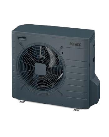 Rotex Wärmepumpen Außengerät | RRGA04DV-CA anthrazitgrau | 4 kW