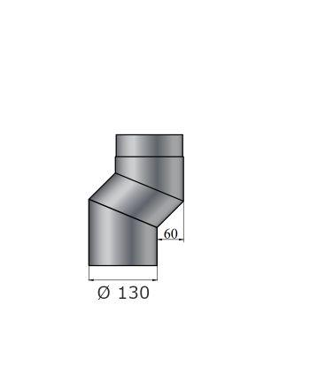 Color-Fire | Ofenrohr | S-Versatzbogen 60mm | Ø 130mm
