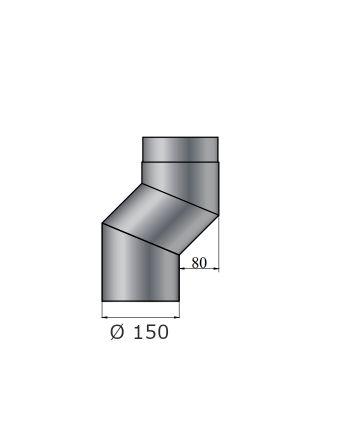 Color-Fire | Ofenrohr | S-Versatzbogen 80mm | Ø 150mm