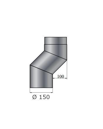 Color-Fire | Ofenrohr | S-Versatzbogen 100mm | Ø 150mm