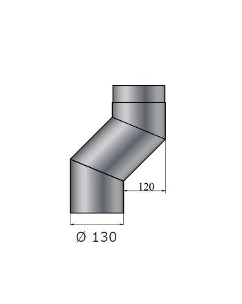 Color-Fire | Ofenrohr | S-Versatzbogen 120mm | Ø 130mm