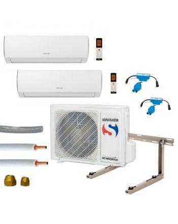 Klimaanlage Komplettset Multisplit Sinclair Wandgeräte 2x2,1kW