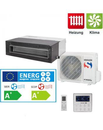Split - Klimaanlage Kanalgerät Sinclair UNI DC-Inverter 2,7kW