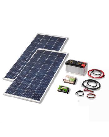 Solar Inselanlage | 300W Set | Quick-Charge | Strom erzeugen/speichern
