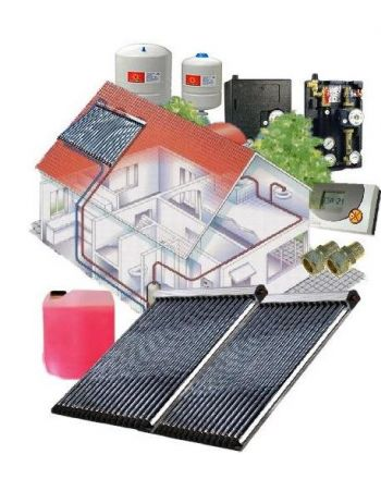 Solarpaket WT-B/30 Röhrenkollektorset 30-2 mit 10,10 m² Westech Solar