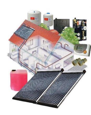 Solarpaket WT-B/22 Röhrenkollektorset 22-2 mit 7,52 m² Westech Solar