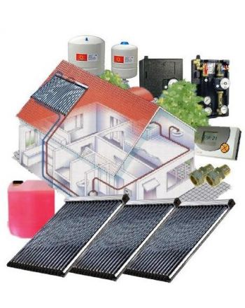 Solarpaket WT-B/22 Röhrenkollektorset 22-3 mit 11,28 m² Westech Solar