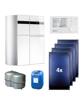BUDERUS | Hybridsystem | Gas-Brennwertgerät + Solar | Logasys SL136.3