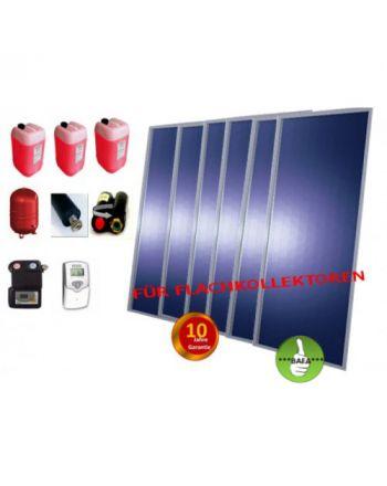 Solardual - Solarpaket Expert Plus (14,52 m² ) mit Flachkollektoren