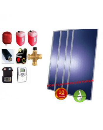 Solardual- Solarpaket Expert (9,68m²) mit Flachkollektoren