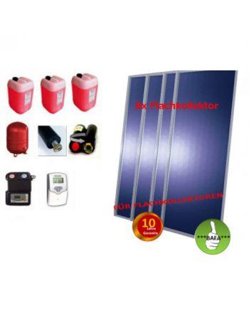 Solardual - Solarpaket Premium (19,36m²) mit Flachkollektoren