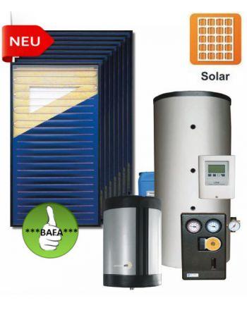 STI Solarpaket Paul 20,16m² Bruttofläche 1000 Liter Aufdach Drain Back