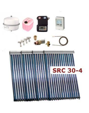 Solarpaket Thermoflux SRC 30-4 mit Vakuumröhrenkollektoren mit 18,2m²
