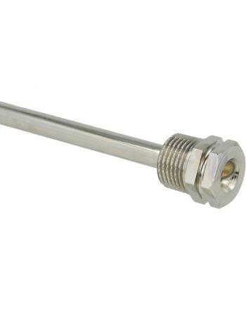 Tauchhülse aus Messing | 200 mm Einbaulänge | G1/2'' | +130°C | 16 bar