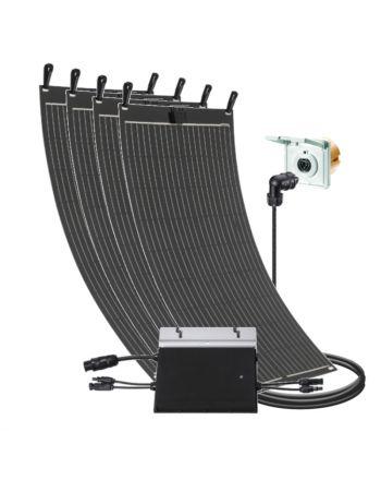 Balkon Solar Set | 600 W | mit flexiblen Modulen | Einspeisesteckdose
