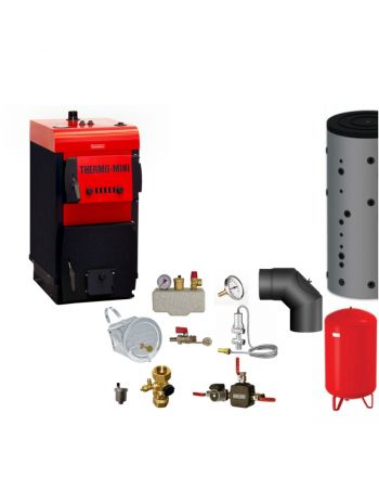 Thermo-Mini 3,9 kW Festbrennstoffkessel Komplettset 2