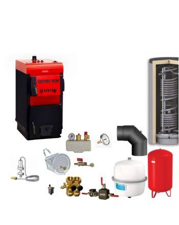 Thermo-Mini 3,9 kW Festbrennstoffkessel Komplettset 4