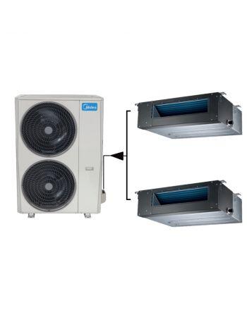 Midea Klimaanlage TWIN MTI-18FNXD0 Kanalgerät 2 x 5,3 kW | 36000 BTU