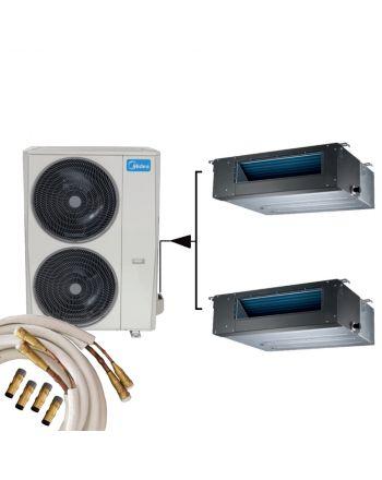 Midea TWIN Kanalklimaanlage MTI-24FNXD0 2x 7,0kW und Quick-Connect