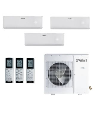 VAILLANT Klimaanlage MultiSplit | 3 Wandgeräte 2x2,7 kW und 1x3,5 kW