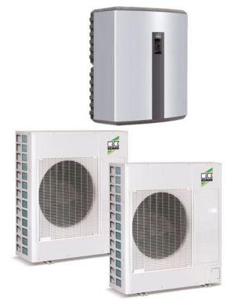 Remko Luft/Wasser Wärmepumpe Set - Duo-Split WKF120   18-25 kW