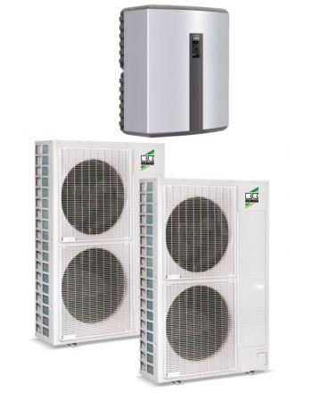 Remko Luft/Wasser Wärmepumpe Set - Duo-Split WKF180   25-32 kW