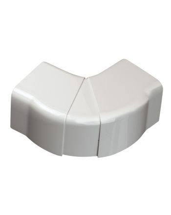 Verstellbare Flachwinkelhaube 65° - 130°   für Kabelkanal   80x60 mm