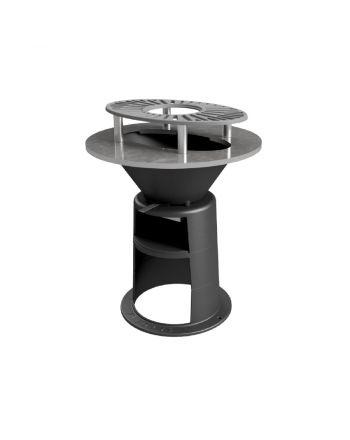 Feuerstelle ViaGrill 800 aus Gusseisen mit Grillplatte