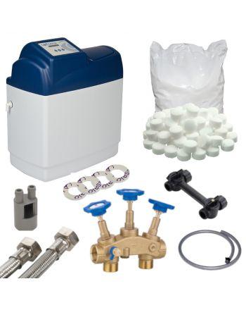 Wasserenthärtungsanlage Eco Mini 11 | Anschlussset Enthärtungsanlage