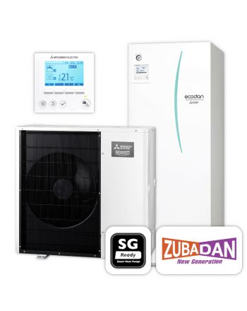 MITSUBISHI | Ecodan Wärmepumpen-Set 5.14 | Zubadan Inverter | 12,0 kW