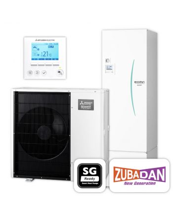 MITSUBISHI | Ecodan Wärmepumpen-Set 5.23 | Zubadan Inverter | 10,0 kW