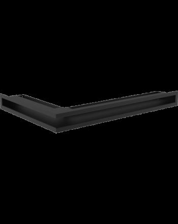 #Kratki Eckluftleiste rechts   600x400mm Winkel x 60mm   schwarz   B-Ware