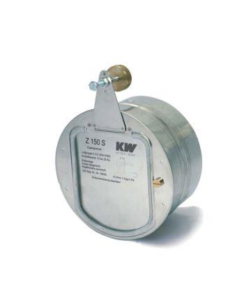Kutzner+Weber Zugbegrenzer Z(UK)150S   gedämpfter Regelscheibe Ø150 mm