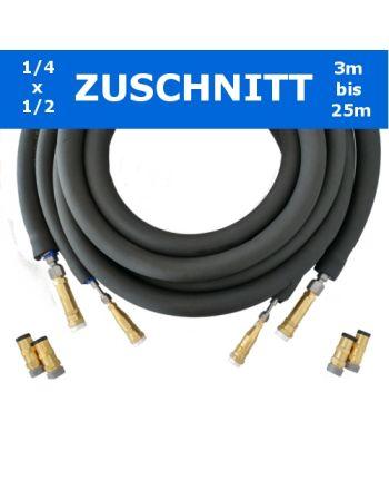 Isoliertes hochflexibles Flexrohr Quick-Connect 1/4x1/2'' Zuschnitt''