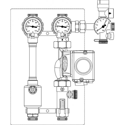 "Oventrop Station ""Regusol LH-130"" mit Wilo Stratos Tec ST 25/1-7 PWM, 2-15 l/min"