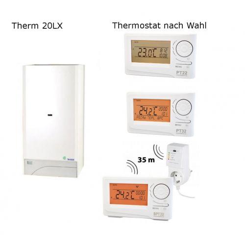 Gastherme Therm 20 LX mit 8 - 20 kW inkl. Thermostat nach Wahl