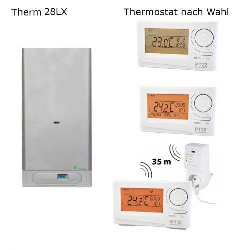 Gastherme Therm 28 LX mit 13 - 28 kW inkl. Thermostat nach Wahl