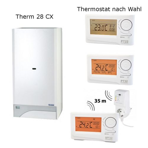Gastherme Therm 28 CX mit 13 - 28 kW inkl. Thermostat nach Wahl