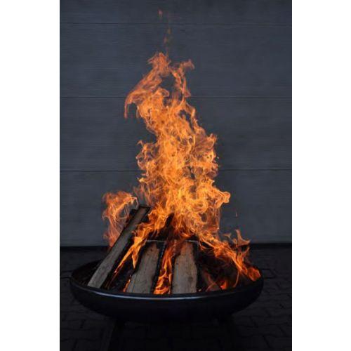 Feuerschale 600 mm Feuerkorb Stahl Pflanzschale Klöpperboden Terrassenfeuer