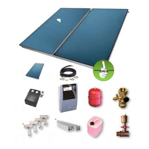 TWL Solarpaket FK200-10 Flachkollektorset 23,40m²
