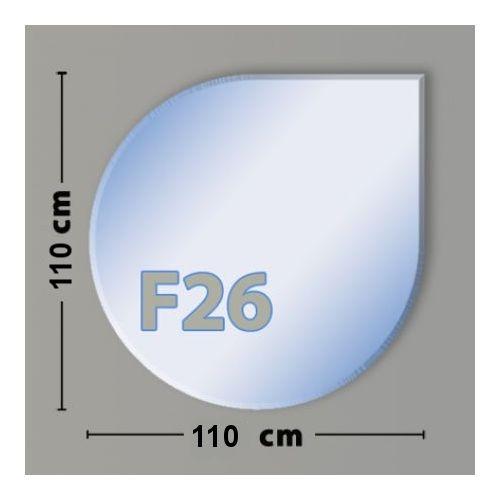 Rechteck F26 Funkenschutzplatte aus Sicherheitsglas