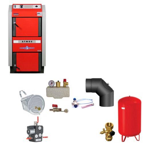 ATMOS GS40 Scheitholzvergaser Holzvergaserkessel | Komplettset 1