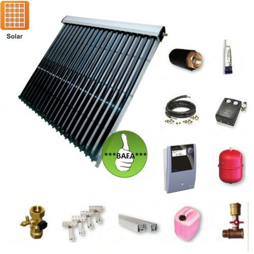 Solarpaket TWL EtaSunPro HLK30-5 Vakuumröhrenkollektorset 22,45m²