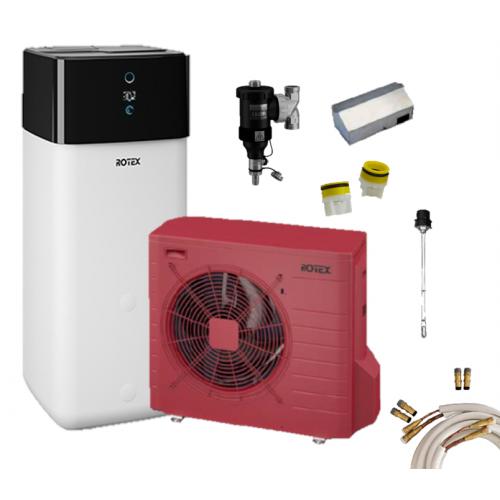 Rotex Luft-Wasser-Wärmepumpen Set | HPSU compact Ultra 504 Biv inkl. Zubehör
