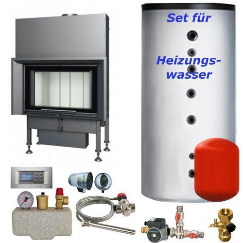 Wasser Kamineinsatz Aquatic WH 85 V 22,5 kW BEF Home Set 1
