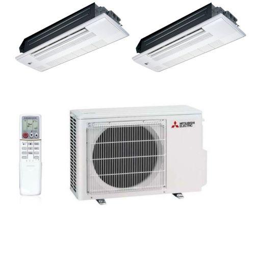 Blende 2,5 kW Split Klimaanlage Mitsubishi Electric 1-Wege-Deckenkassette inkl