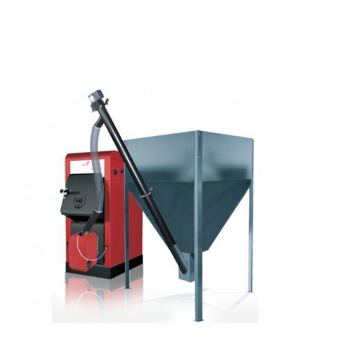 Pelletkessel Orligno 100 mit Pelletbrenner BAFA Förderbar 16 kW