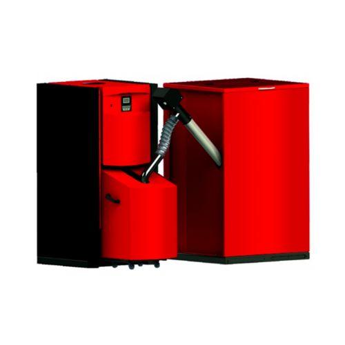 Pelletheizung PellFlux 25kW   500 Liter Behälter   BAFA förderfähig
