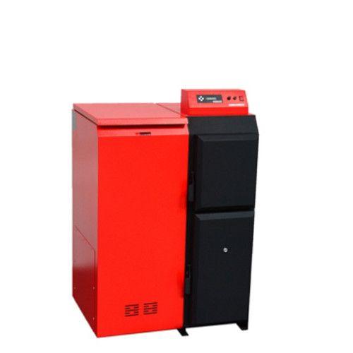 Pelletkessel Pelling 25 ECO mit 25 kW | 230 kg Behälter links